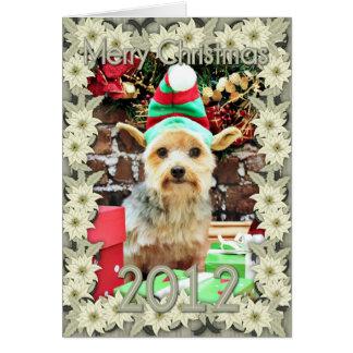 Christmas - Yorkie - Vinnie #32 Greeting Card
