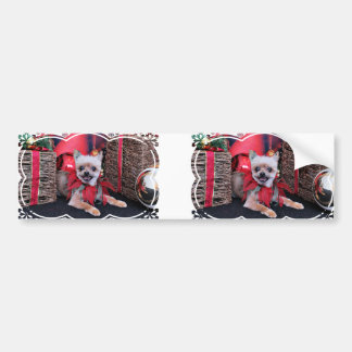 Christmas - Yorkie X - Lucky Bumper Stickers