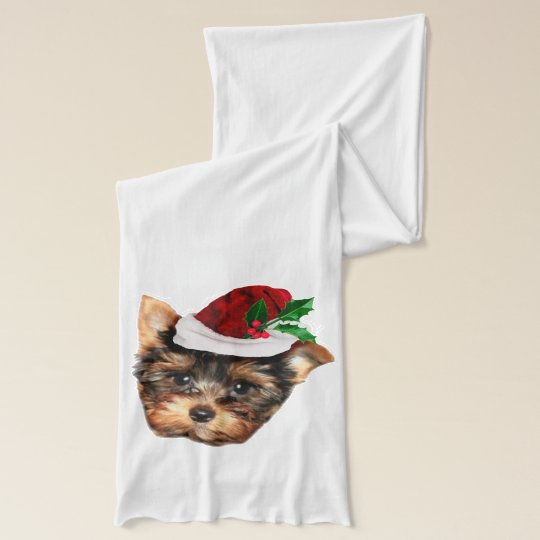 Christmas Yorkshire Terrier Scarf