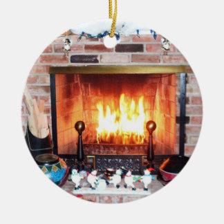 CHRISTMAS YULE TIDE  LOG ornament
