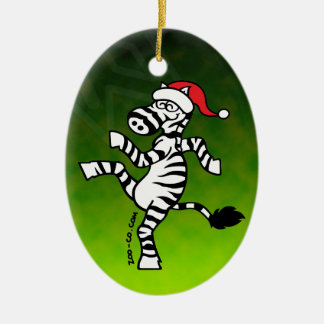 Christmas Zebra Christmas Ornament