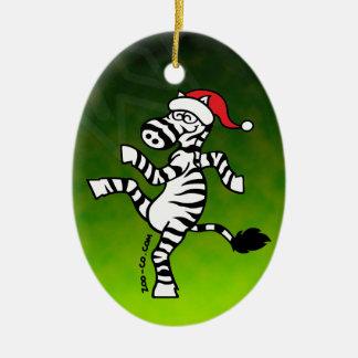Christmas Zebra Christmas Ornament