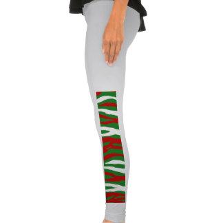 Christmas Zebra Stripes Legging