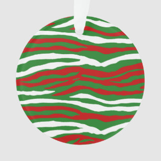 Christmas Zebra Stripes Ornament