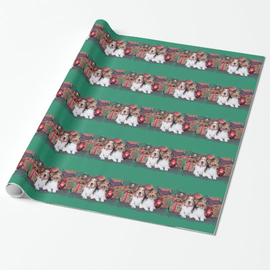 Christmas - Zena & Packer - Shelties Wrapping Paper