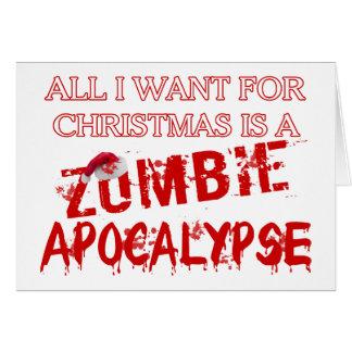 Christmas Zombie Apocalypse Greeting Card
