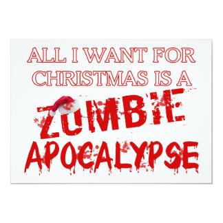 Christmas Zombie Apocalypse 13 Cm X 18 Cm Invitation Card