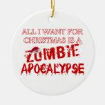 Christmas Zombie Apocalypse Ornament