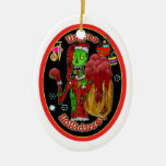 christmas zombie ornament_oval christmas tree ornaments
