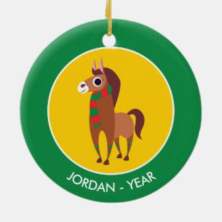 Christmas Zora the Horse Christmas Ornament
