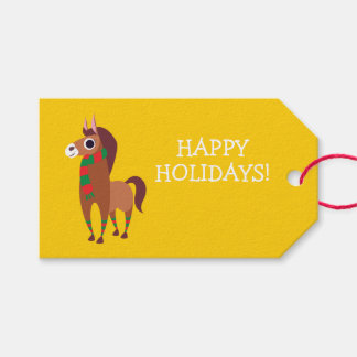Christmas Zora the Horse Gift Tags
