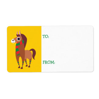 Christmas Zora the Horse Shipping Label