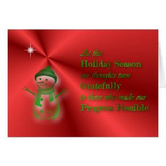 Christmasholiday season card for customer