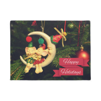 Christmas's mice on the Moon Doormat
