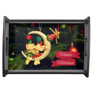 Christmas's mice on the Moon Serving Trays
