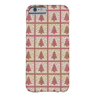 Christmassy Red Knitted Pattern Barely There iPhone 6 Case