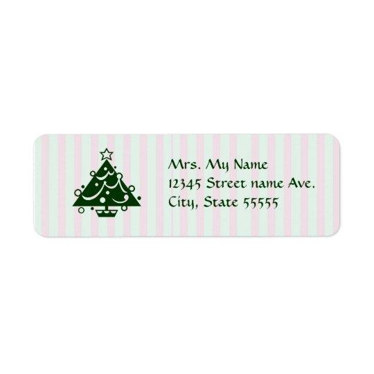 Christmastime Lables Return Address Label