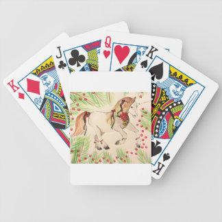 ChristmasUnicorn Bicycle Playing Cards
