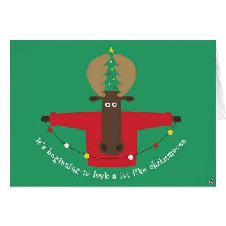 christmoose card