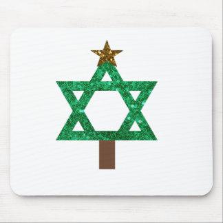 christmukkah christmas tree mouse pad