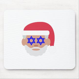 christmukkah santa claus emoji mouse pad