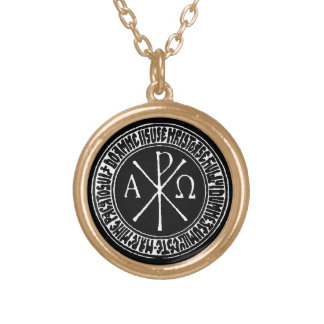 Christogram with Jesus Prayer in Romanian Pendant