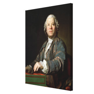 Christoph Willibald Gluck  at the spinet, 1775 Canvas Print