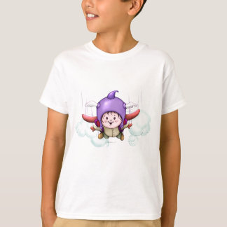CHRISTOPHER ALIEN CARTOON HANES TAGLESS SHIRT KID