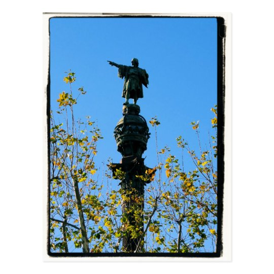 Christopher Columbus - Barcelona, Spain Postcard