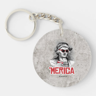 Christopher Columbus 'Merican Party Single-Sided Round Acrylic Keychain