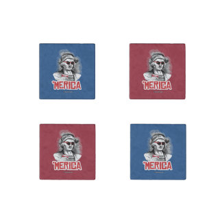 Christopher Columbus 'Merican Party Stone Magnet