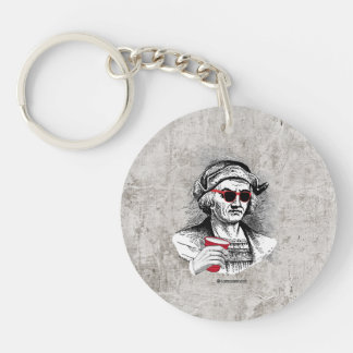 Christopher Columbus Party Animal Single-Sided Round Acrylic Keychain