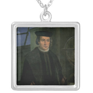 Christopher Columbus Silver Plated Necklace