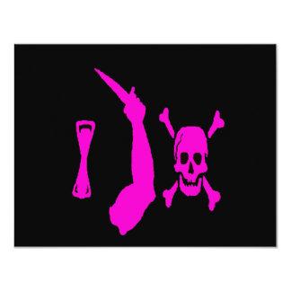Christopher-Moody-Pink 11 Cm X 14 Cm Invitation Card