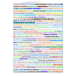 Christopher Text Design II Vertical Greeting Card