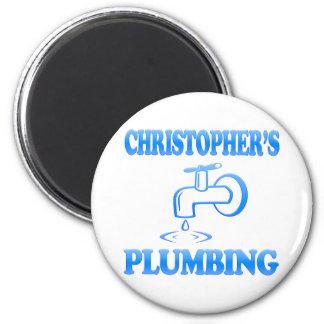 Christopher's Plumbing 6 Cm Round Magnet