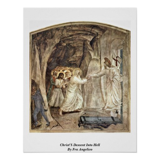 Christ'S Descent Into Hell By Fra Angelico Poster