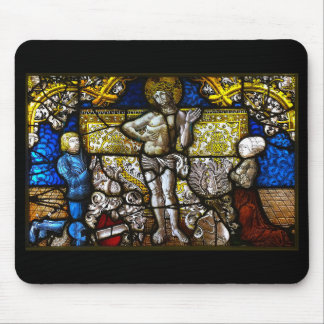 Christ's stain dog lath mouse mat