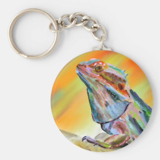 Chromatic Bearded Dragon Digital Paint Key Ring