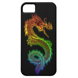 Chromatic Eastern Dragon (black) Barely There iPhone 5 Case