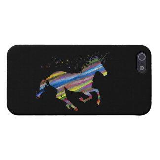 Chromatic Geometric Rainbow Unicorn iPhone 5 Cover