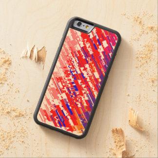 Chromatic Splash II On Wood Case Maple iPhone 6 Bumper