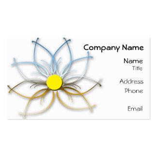 Chrome Abstract Daisy Business Card