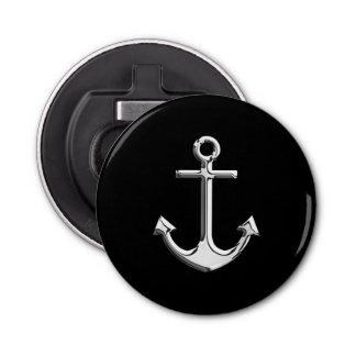 Chrome Anchor on Black Decor