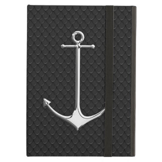 Chrome Anchor on Snake Skin Nautical Lifestyle Cover For iPad Air