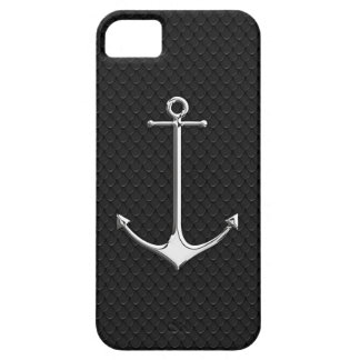 Chrome Anchor on Snake Skin Nautical Lifestyle iPhone 5 Cases