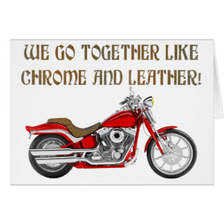 CHROME AND LEATHER CARD