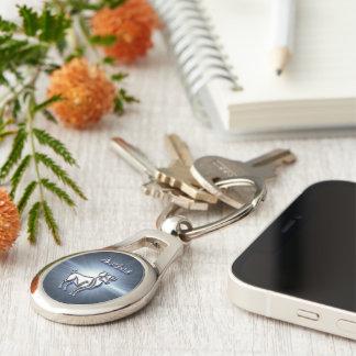 Chrome Aries Key Ring