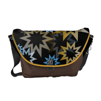 Chrome Blue and Gold Stars Commuter Bags