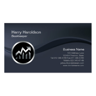 Chrome Calculator Icon Stock Broker Business Card